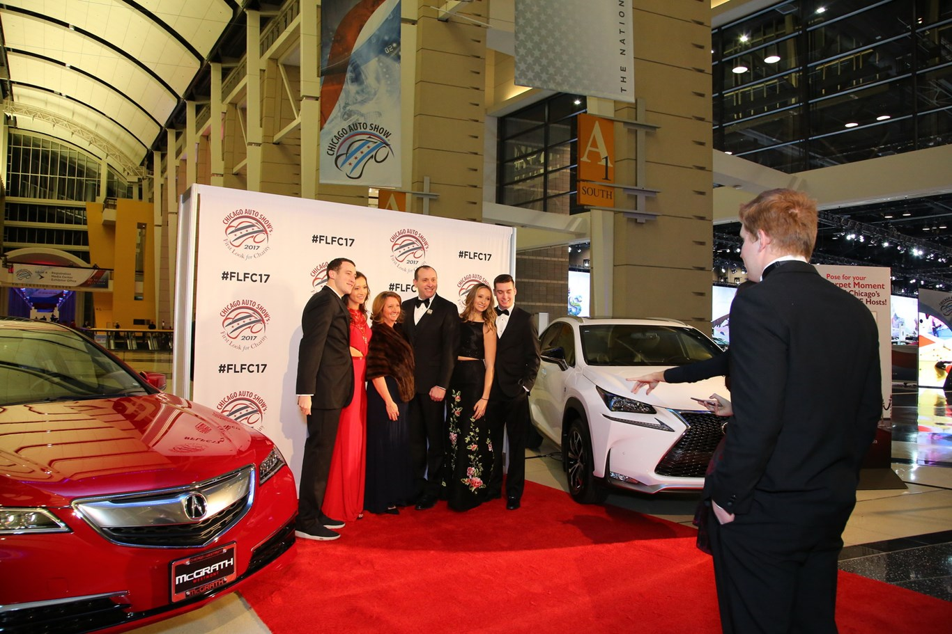 CAS First Look For Charity Chicago Auto Show - Car show carpet