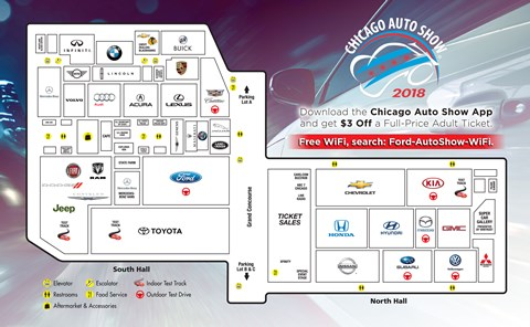 2018 Chicago Auto Show Map