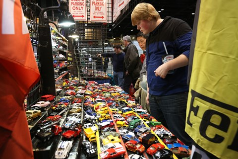 Model cars for sale in the Allied Area of the Chicago Auto Show