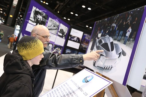 History of The Chicago Auto Show Display