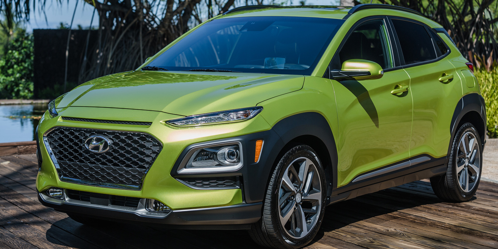 Hyundai Kona Vehicles On Display Chicago Auto Show - Hyundai car show