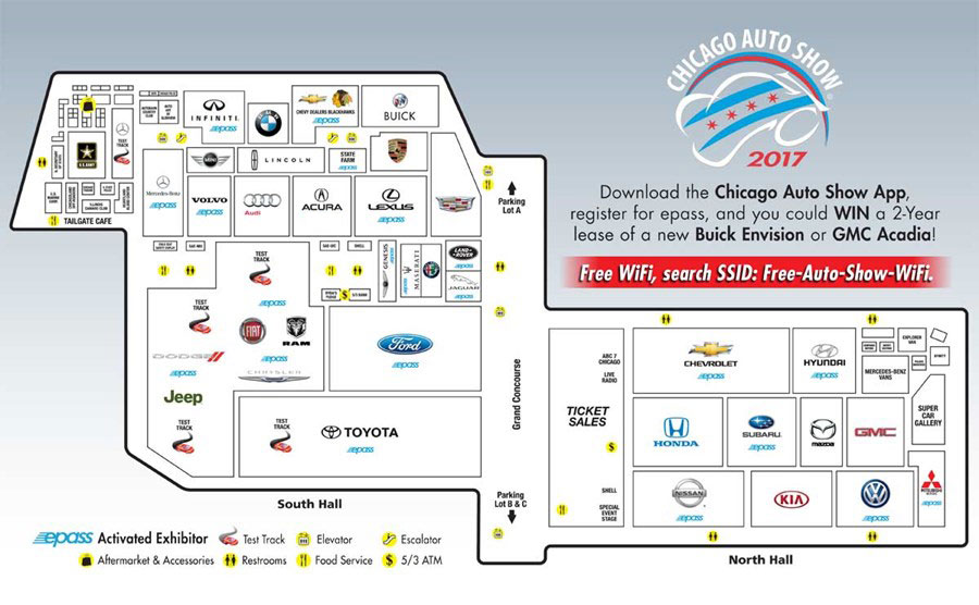 Show Floor Map About Chicago Auto Show