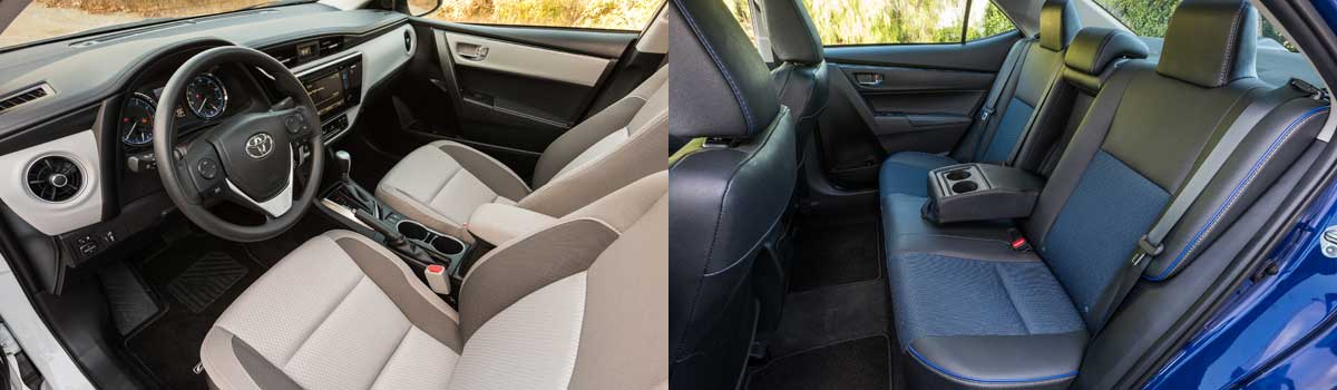 Corolla's interior is utilitarian but there are enough pseudo-chrome and brushed aluminum surfaces to liven the atmosphere. Fit-and-finish is excellent and ...