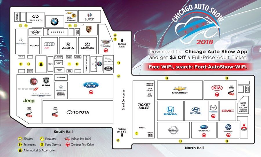Show Floor Map About Chicago Auto Show - Car show app